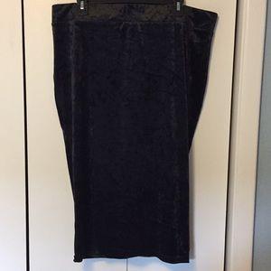 Torrid Black Velvet Pencil Skirt NWOT